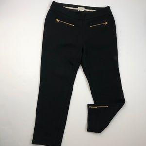 Kate Spade Black wool blend crops w/ gold zippers